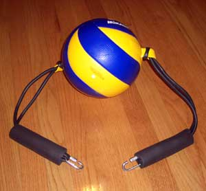 Volleyball Spike Trainer (Volleyball Training Equipment) Ball Assembly - Easily Remove for Storage or Replacement.