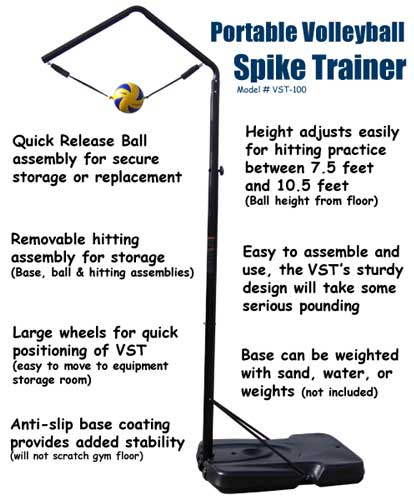 Volleyball Spike Trainer | Volleyball Spike Trainer, Volleyball ...